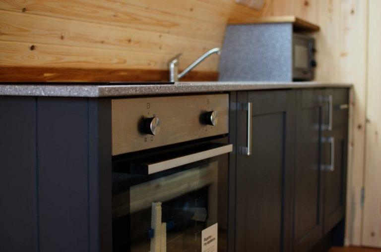 Kitchen inside NC500 pod