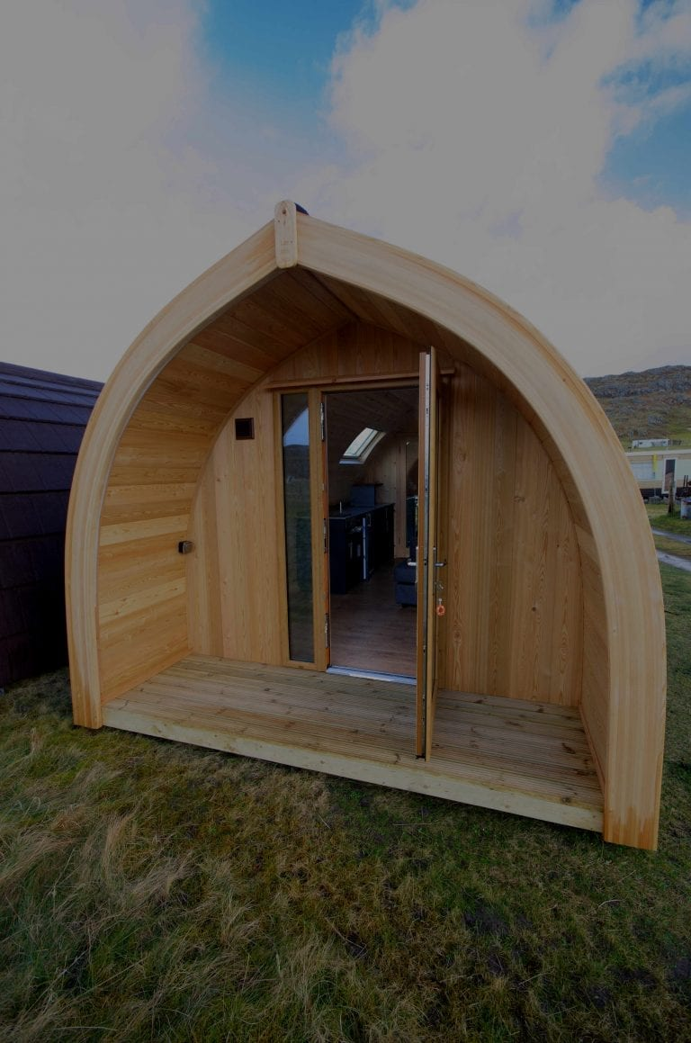 Front view of Achmelvich Pod