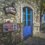 stoney exterior of shops in Brora