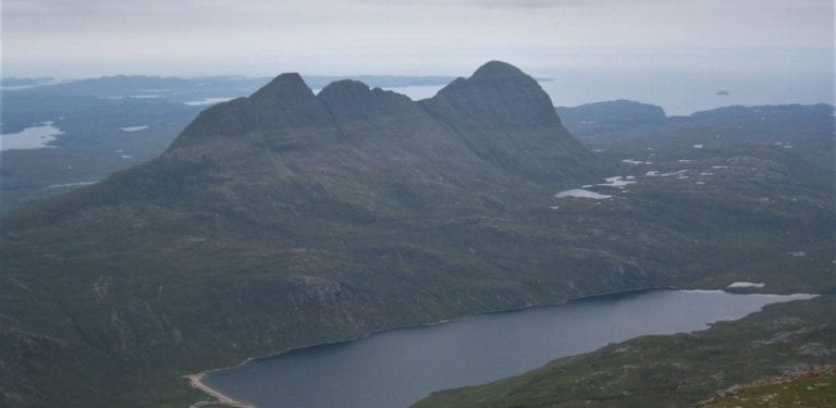 View towards Suilven with loch in foreground