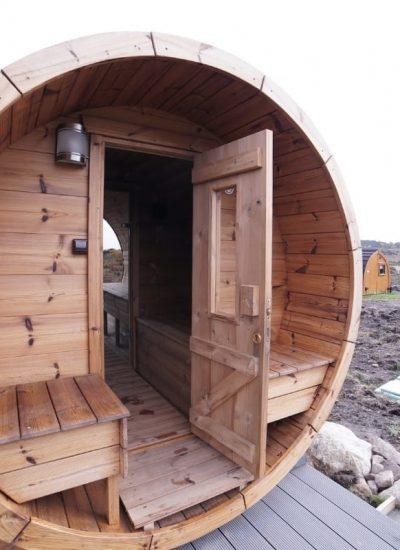 Sauna in Brora Doors Open