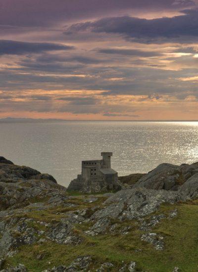 Hermit's castle beside pods - smallest castle in europe