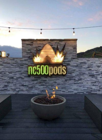 NC500 Pods Sitting Area Achmelvich