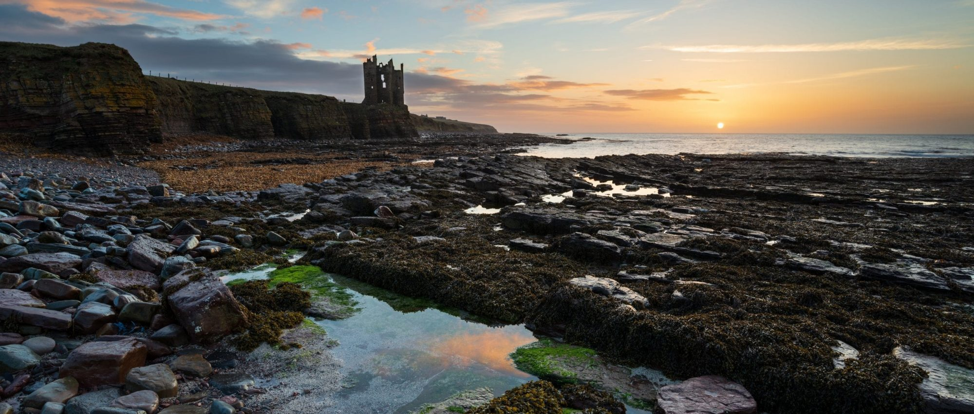 Keiss Castle at Caithness in Scotland