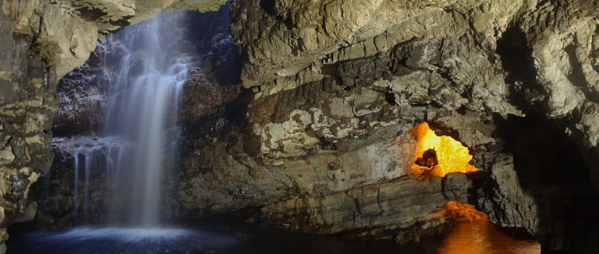 cave with waterfall